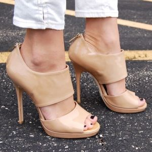 Jimmy Choo Private nude patent leather sandal 41.5