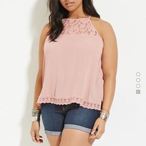 Forever 21 Tops - 💕Lace-Paneled Pink Cami💕W/ FREE GIFTSS!!🎁👏🏼😍