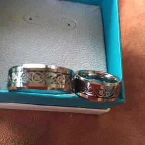 Titanium Jewelry - Brand-new titanium set of wedding bands