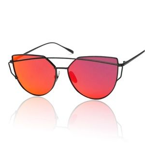 c22e93a340 Accessories - Red Mirror Cateye Women Sunglasses