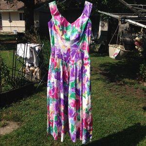 Vintage Geary Roark Kamisato floral dress-NWT!