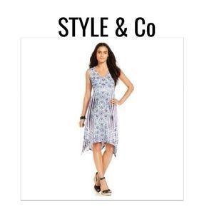 Style & Co Dresses & Skirts - 💲SALE💲 Handkerchief Hem Dress NWT $79 S