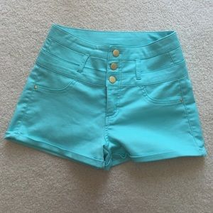 refuge Pants - Green/turquoise shorts