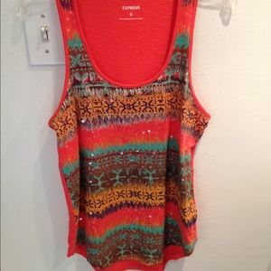 Express patterned tank top