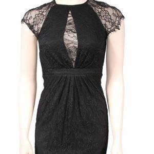 Catherine Malandrino black lace dress size 4