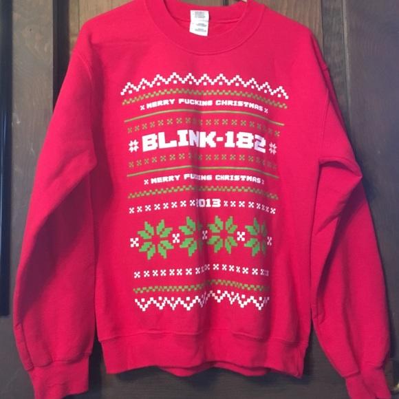 Blink 182 Merry Christmas sweatshirt 2013