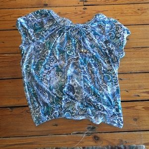 Turquoise blue peasant top Cato size 18/20