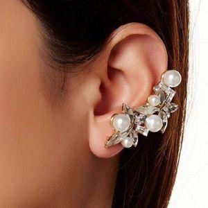 T&J Designs Jewelry - BOHEMIAN EARRING Cluster Pearls Crawler Ear Cuff