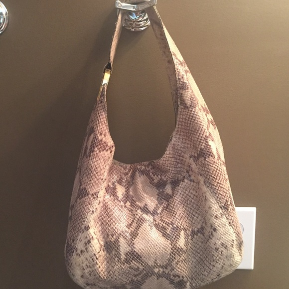 66% off Michael Kors Handbags - Michael Kors snake skin hobo ...