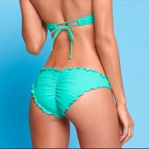 Victoria S Secret Swim Vs Ruffle Cheeky Print Scrunch