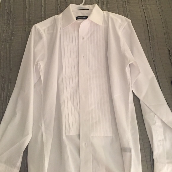 51 off pierre cardin other nwt white men 39 s slim fit for Extra slim tuxedo shirt