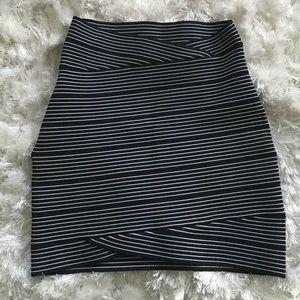 Mini striped skirt