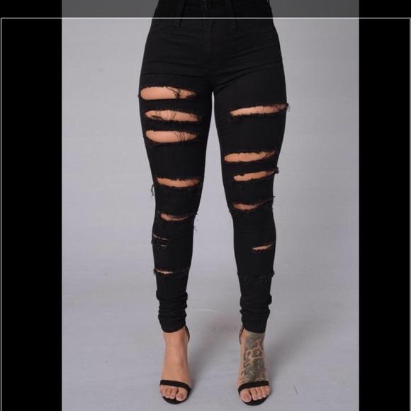 14 Off Fashion Nova Denim Brand New Fashion Nova Black