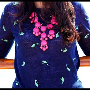 J Crew Linen Tippi Whale Sweater