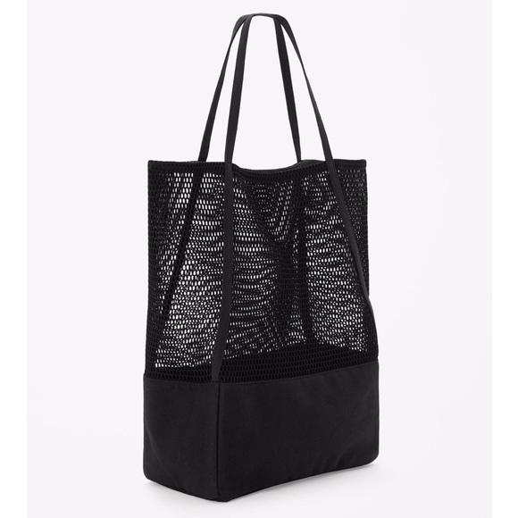 40% off COS Handbags - COS | Canvas and Mesh Shopper Bag from ...