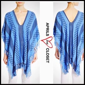 Boutique Sweaters - ❗️1-HOUR SALE❗️PONCHO Pullover Fringe Trim