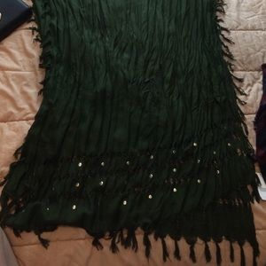 olive colored scarf