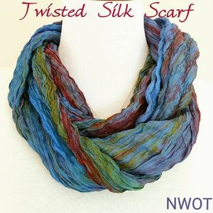 Craft Link  Accessories - NWOT 100% Silk Twisted Scarf