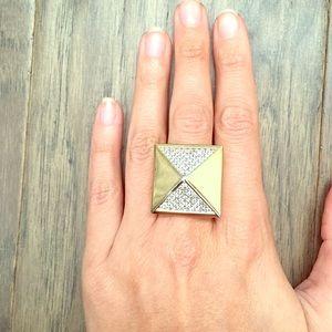 nOir Jewelry Jewelry - Noir Jewelry Gold Pyramid Ring, Size 8