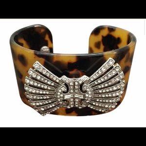 J. Crew Jewelry - J. Crew Tortoise Shell Cuff with Vintage Detail