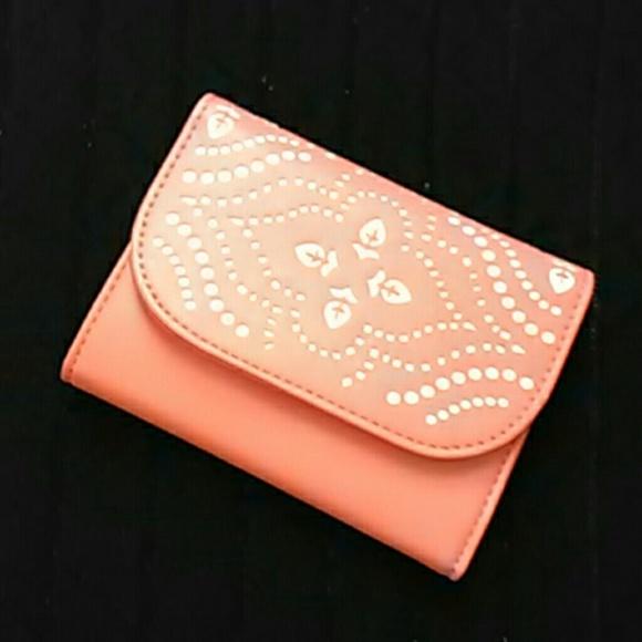 d79aaeec5d NWT Vera Bradley laser cut wallet in coral