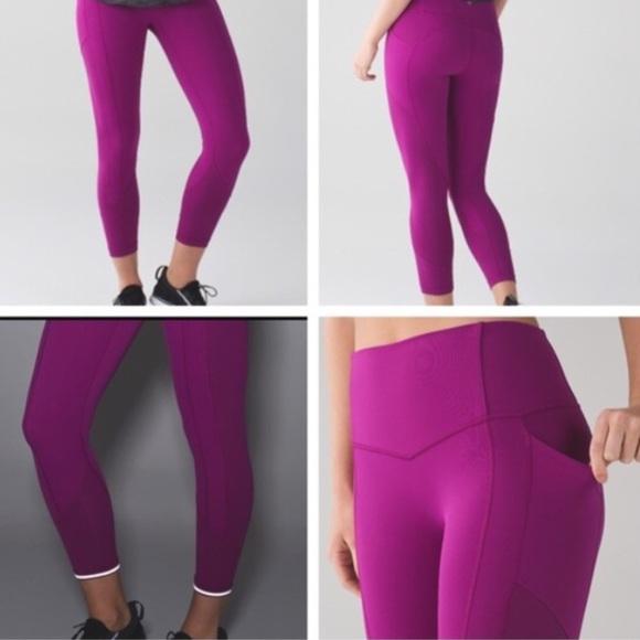 741269ac33 lululemon athletica Pants | Lululemon All The Right Places Crop ...