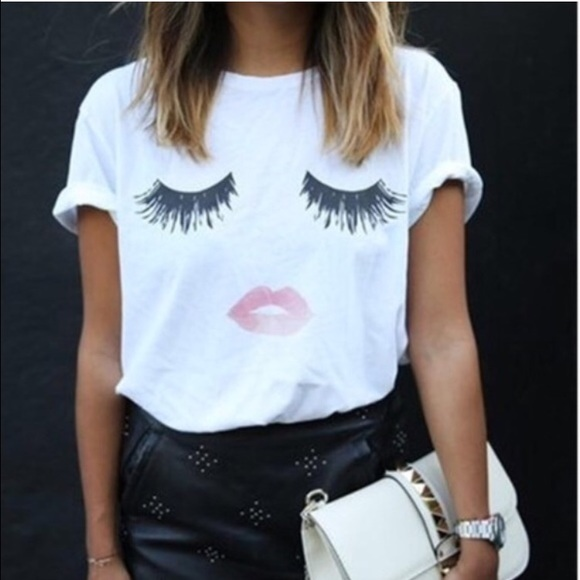 Lips and lashes tee shirt