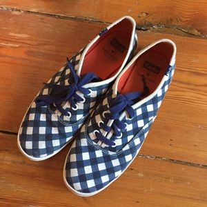 Kate Spade for Keds Navy and White Sneakers
