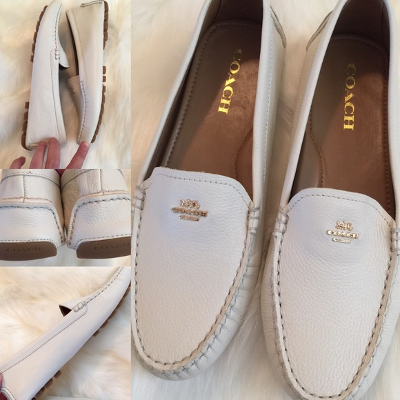 fff860cc16c NEW! 💗 COACH Amber White Moccasin Loafers