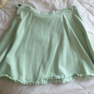 Mint green American apparel skirt