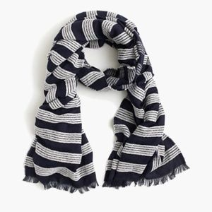 J. Crew Accessories - J.Crew striped scarf with fringe