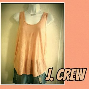 J. Crew Racerback Burnout Tank Athletic Yoga