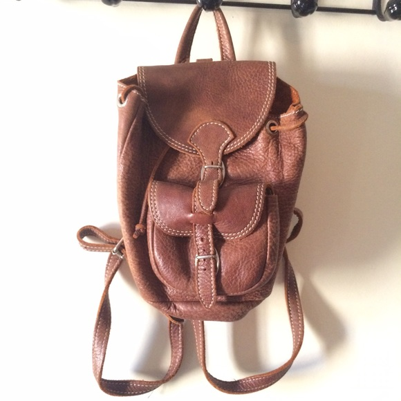e598f5c5c6eb Mini Roots Brown Leather Backpack. M 578eae9ac28456024b00ff80