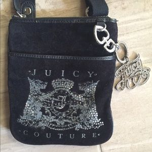 Juicy Couture Crossbody Bag, Black and Silver