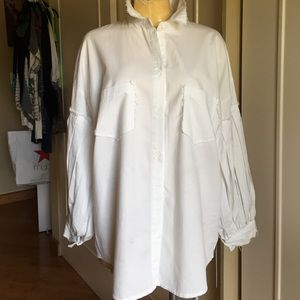 Gracia Tops - SHABBY CHIC WHITE BLOUSE BY GRACIA NEVER WORN