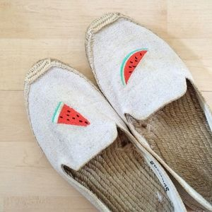Soludos Shoes - Soludos Watermelon Embroidery Espadrilles Flats