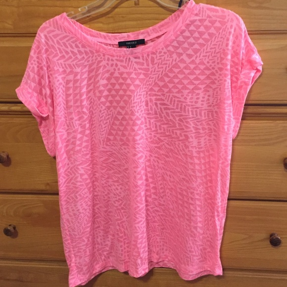 77% off Forever 21 Tops - Neon pink shirt from Christina's closet ...