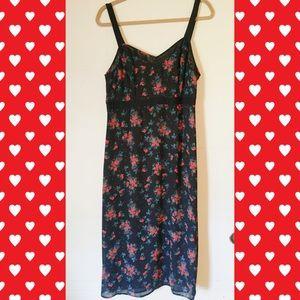 I Heart Ronson Floral Midi Dress NWOT ❤️❤️❤️