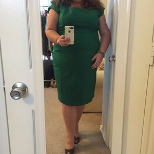Kelly green sheath dress