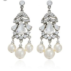 Ben-Amun Jewelry - crystal and pearl drop earrings
