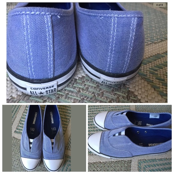 Converse Shoes   Converse Cove Slip On Sneakers Chambray   Poshmark