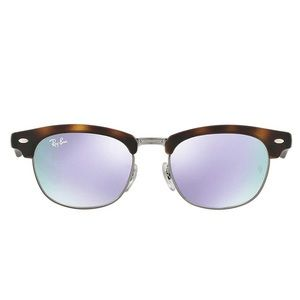 NEW Ray-Ban Kids Clubmaster Sunglasses, Tort/Lilac