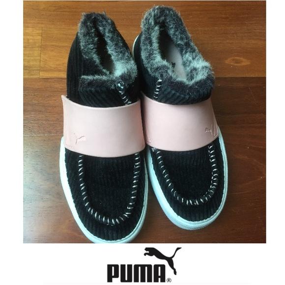 Puma Women s Corduroy Pink and Fur Slip Ons. M 578ecf182599fe6318013d7e c1c986429