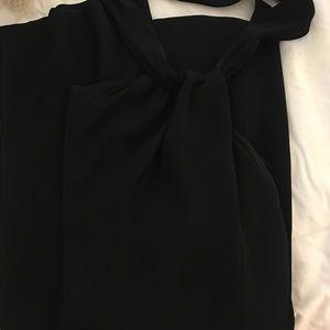 a0b8f43ca326 Zara Pants - Zara Women s Black Crepe Jumpsuit With Back Bow