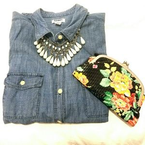 Old Navy Tops - Chambray button down