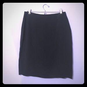 Navy 100% silk pencil skirt