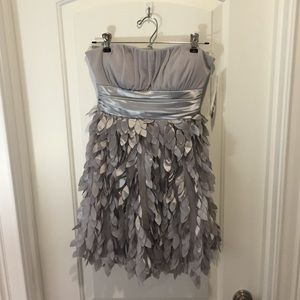 Jump Girl Dresses & Skirts - Silver/ Grey textured formal dress