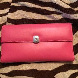 Ralph Lauren French wallet w lots of compartments