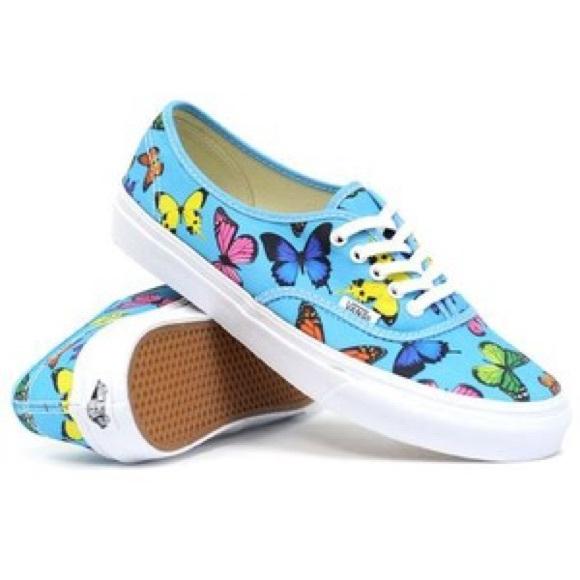 62% off Vans Shoes - Vans Butterfly Print Tennis Shoes Classic ...