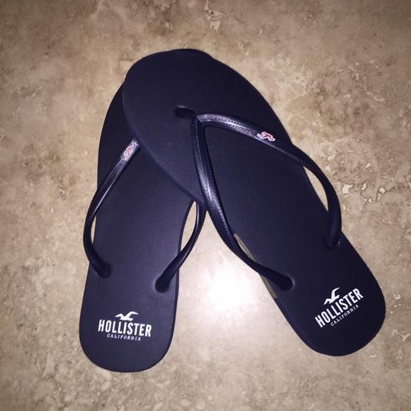 2306db2d2f095e Hollister Shoes - Navy Blue Hollister Flip Flops